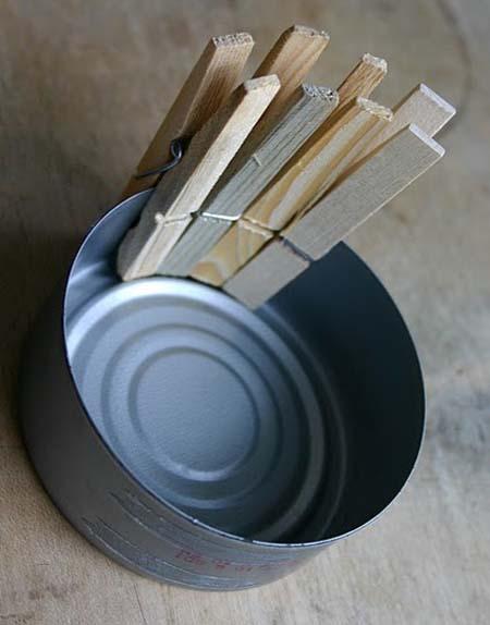 DIY maceta pinzas