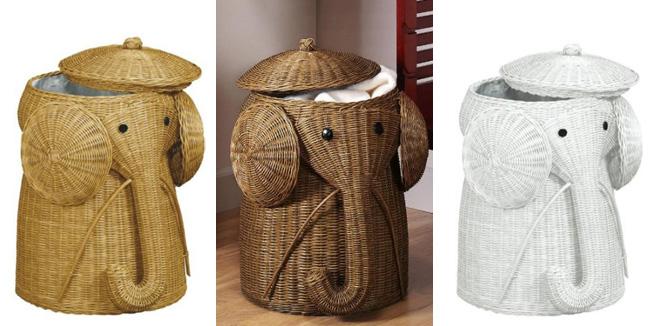 Cesto para la ropa_ Forma de elefante