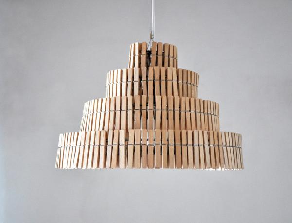 Hacer una lampara con pinzas